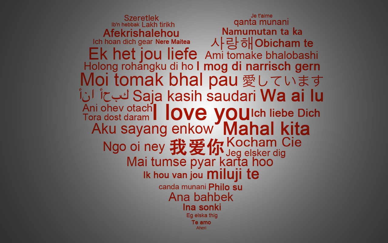 Love in multiple languages